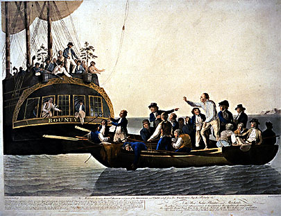 Vzpoura na Bounty, Mutiny of Bounty, William Bligh, Fletcher Christian